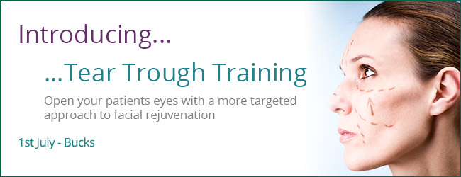 Cosmetic Courses: banner showing an introduction to Tear Trough Training