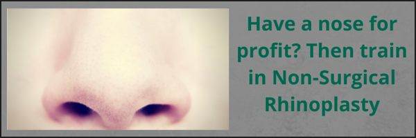 Cosmetic Courses: Banner showing non surgical Rhinoplasty training blog