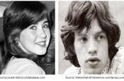 Image showing a young Collen Nolan and Mick Jagger