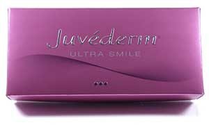 Cosmetic Courses; image showing dermal filler product range Juverderm Smile